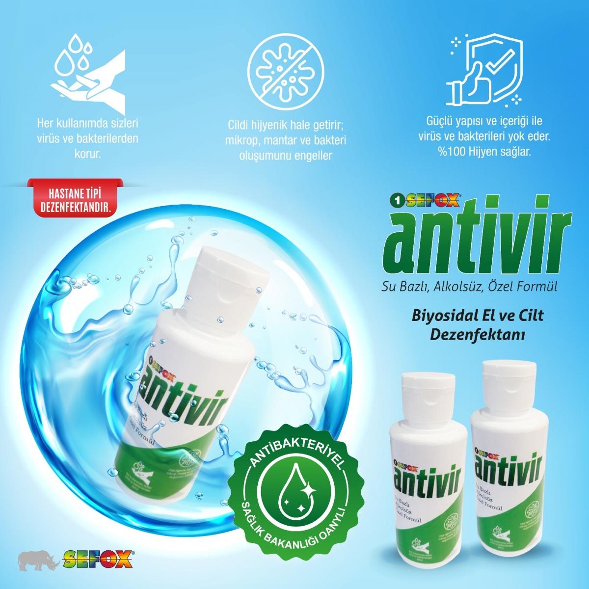 Antivir El ve Cilt Dezenfektanı 100 ml