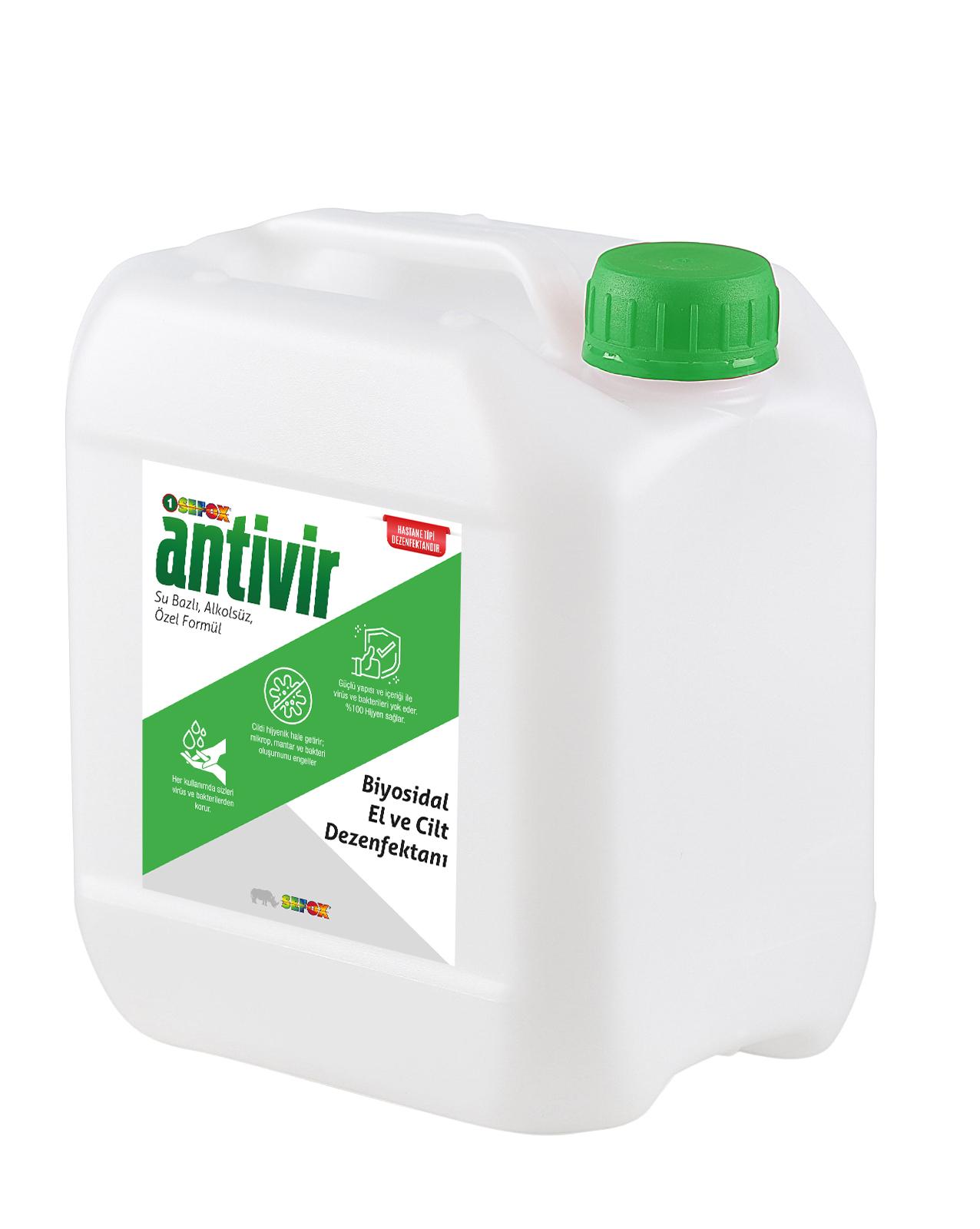 Antivir El ve Cilt Dezenfektanı 5 Lt