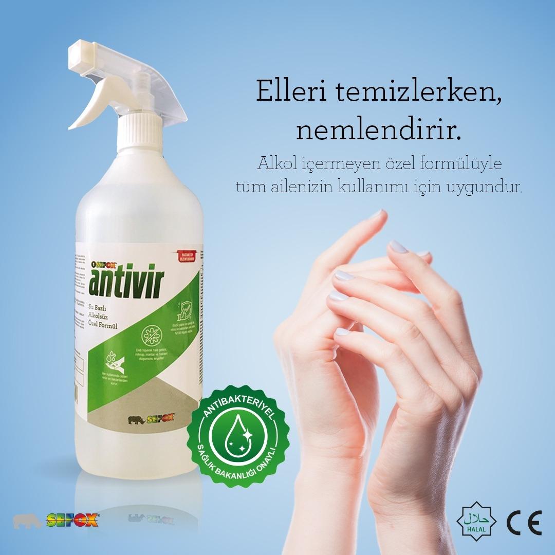 Antivir El ve Cilt Dezenfektanı Sprey 1 Lt